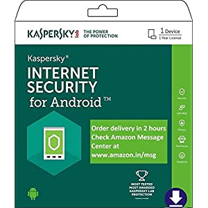 Kaspersky Internet Security for Android Latest Version- 1 Device, 1 Year (Code emailed in 2 Hours – No CD)