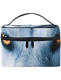 COOSUN Ojos de Lobo bolso cosmético de la lona de viaje Neceser asa superior bolsa caso