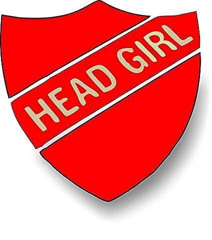 Head Girl Enamel School Shield Badge - Red