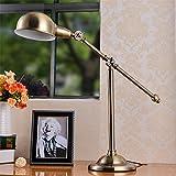BBSLT lámpara de mesaOficina de la americana sala de estar mesa lámpara vintage cobre forja dormitorio dormitorio estudio art decó mesa lámpara