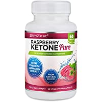 SlimZest - Raspberry Ketone Pure - UK Manufactured Diet Pills - Vegetarian & Vegan Friendly Slimming Pills - Top Selling Raspberry Ketone – Diet pills for Men and Women - Stimulant FREE Weight Loss Tablets - Amazing Value Order Today from a Well Known Trusted Brand Diet Pills That Work Fast (60 Raspberry Ketone Vegetarian Capsules)