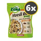6 Enerzona Muesli Ricco 40-30-30 da 230 g.
