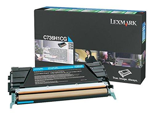 Preisvergleich Produktbild Lexmark C736H1CG C736, X736, X738 Tonerkartusche 10.000 Seiten Rückgabe, cyan