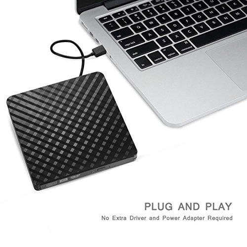 Umiten External DVD Drive, Portable DVD CD ROM Drive Burner