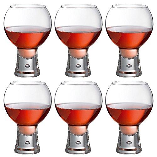 Durobor Alternato Tige Courte Paraison Forme de Bulle Verre � Vin 410ml - Lot de 6