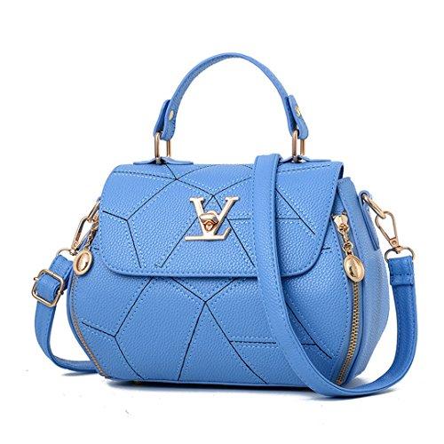 Damentaschen geometrischen kleinen V-Stil Louis Sattel Crossbody-tasche (Volcom-umhängetasche)