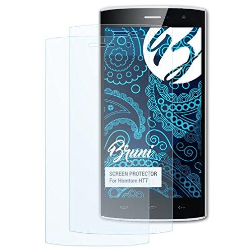 Bruni Schutzfolie für Homtom HT7 Folie, glasklare Bildschirmschutzfolie (2X)