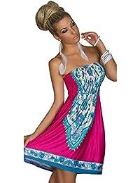10d9361610a53 MoYoTo Women s Fashion Beach Wear Tube Top Summer Bikini Swimsuit Cover Up  Dress