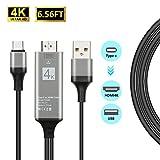 USB C a HDMI Cavo adattatore (2m/2m) tipo C a HDMI Cavo compatibile Thunderbolt 3supporto 4K/30HZ per laptop/MacBook/Galaxy S8/S8+/Note 8con tipo C interfaccia di Dotstone