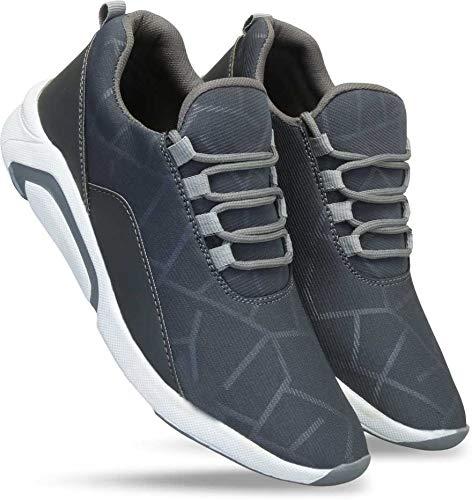 layasa Men's Air Series Mesh Casual,Walking,Running/Gymwear Shoes ... (8, Gray)