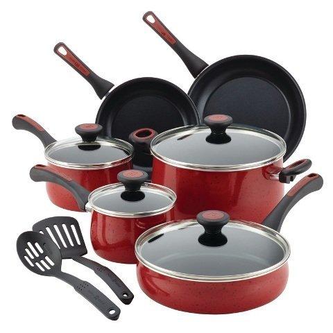 paula-deen-12-piece-riverbend-aluminum-nonstick-cookware-set-red-speckle-by-paula-deen