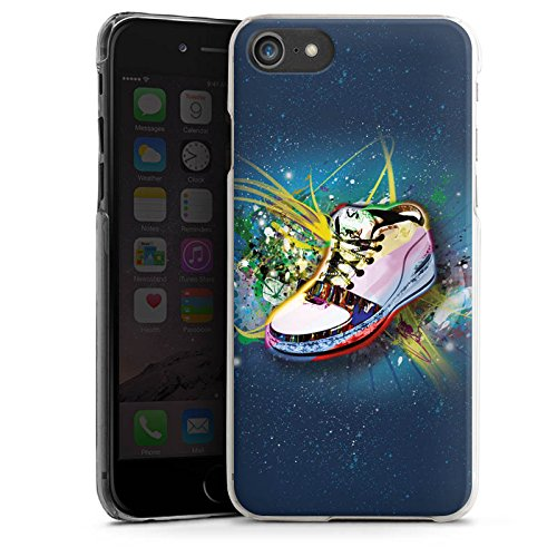Apple iPhone X Silikon Hülle Case Schutzhülle Schuhe Sneaker Muster Hard Case transparent