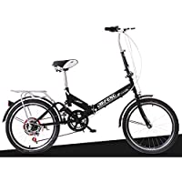 XQ XQ-TT-623 Bicicleta plegable 20 pulgadas 6 velocidades negro