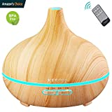 KESOVI 400ml Essential Oil Diffuser Ultrasonic Humidifier Portable Aromatherapy Diffuser -Remote Control,7 Color