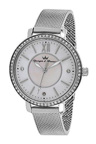 YONGER&BRESSON Femme Date Standard Quartz Montre avec Bracelet en Acier Inoxydable DMC 049S/BM