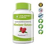 Himbeer Ketone, Hochdosiert und Pures Ketone  - 60 Schlankheitskapseln - Starker Fettverbrenner und Appetithemmer - Vegan Kapseln