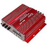 Amplificador - kinter Amplificador estereo remota del FM del coche 4-canal motocicleta