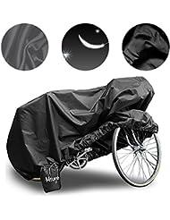 Mture fundas para bicicletas Impermeable Anti UV Cubierta para Bici cubre-bicicleta Protector contra Lluvia y Polvo para Bicicleta Motocicleta190x 65x98CM - Negro
