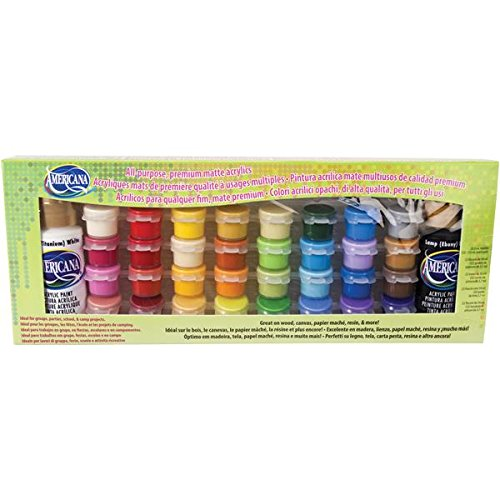 Arcylfarben-Set, Künstlerfarben, 34 Farbtöpfe, verschiedene matte Farben, von Deco Art Americana