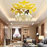 Indexp 3D Removable Mirror Floral Wall Sticker Vinyl Art Home Room Decors Decals(40x60cm) (Gold /58x58cm)