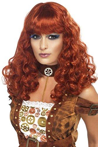 en Pony Burlesque Damenperücke Rot Einheitsgröße (Kostüme Für Rothaarige)
