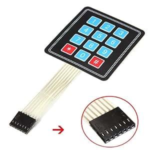 4 x 3 Matrice 12 Touche tableau clavier à membrane commutateur Pour Arduino Super Slim