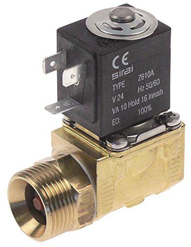 Magnétique Valve 3/4 'DN 10 mm sortie 1/2' 2 voies 230 V AC Entrée 3/4 'laiton longueur 61 mm AG IG