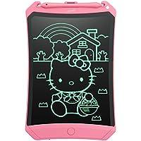 Newyes Tablet LCD de Escritura 8.5 Pulgadas Tableta Gráfica con Llave de Bloqueo Líneas más Brillantes Tablero de Dibujo para Niños para la Oficina de la Escuela Casera con Stylus (Rosado)