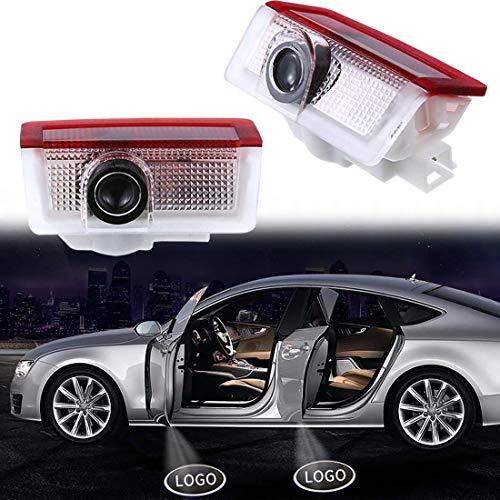 VOYOMO 2 Stück Autotür Logo Türbeleuchtung Einstiegsleuchte Projektion Licht für GLC GLE GLS GLA A B E Class W212 W166 W176 W205 W246 X164