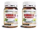Potente Dimagrante Bruciagrassi | Dimakal 60 compresse 2 confezioni | Con Garcina Cambogia,Tè verde, Zenzero, Rhodiola, Ginko | Integratori Dimagrimento Fat Burner
