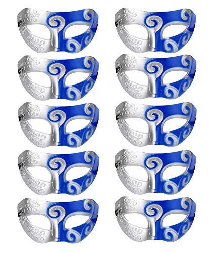 Ru S Mardi Gras Halbmasken, venezianische Masken, Kostüme, Party-Accessoire, 10 - Mardi Gras Kostüm Accessoires