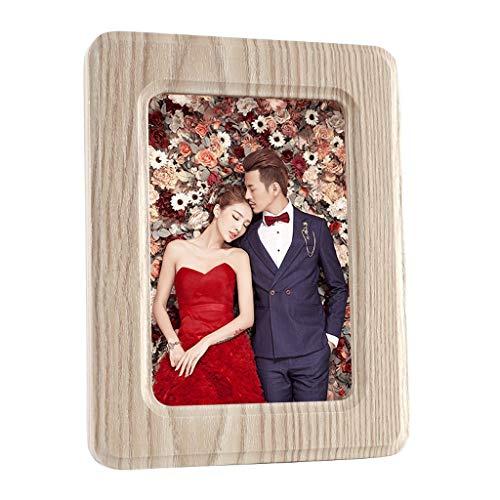 Alidown Bilderrahmen Tisch Collage 5x7 Kreative Einfache Nachahmung Holzmaserung 7 Zoll Schlafzimmer Persönlichkeit Dekorationen Ziemlich (Color : Imitation Wood Grain)