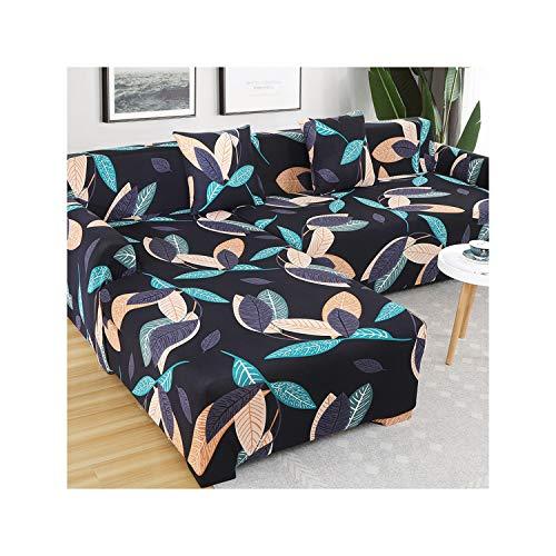 HGblossom L-Form (Kaufen Sie 2 Stück) Ecksofa-Bezug elastisch für das Wohnzimmer Bedruckter Bezug für Sofabezüge Stretch 1/2/3/4 Sitz Farbe 10 Dreisitz 190-230 cm