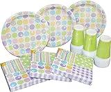 Heku 30005Set de fiesta con platos, vasos y servilletas desechables, 120piezas, Variety, 40  x  29  x  7 cm