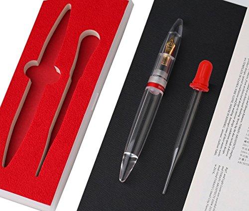 Moonman M2 Transparent Füllfederhalter Geschenk-Box Set, Eye Dropper Kalligraphie-Stifte, Executive Business-Stift, extra feine 0,38 mm Feder für Reibungslos Schreiben Moonman M2 EF 0.38 nib FP UK