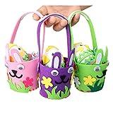 Aytai 3pcs Pequeñas Cestas de Colores con Mini Huevos para Niños DIY Craft Kit
