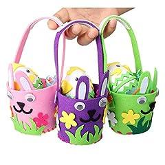 Idea Regalo - Aytai 3pcs Piccoli Cesti Colorati con Mini uova per bambini Kit fai da te
