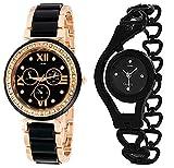 Best Watch Women - Xforia Girls Watch Fashion Black & Rose Gold Review