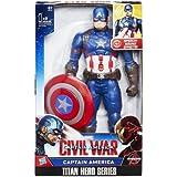 Marvel B6176 - El primer vengador - Guerra Civil - Titan héroe de la serie - la figura Capitán América con efectos de sonido (idioma Inglés)