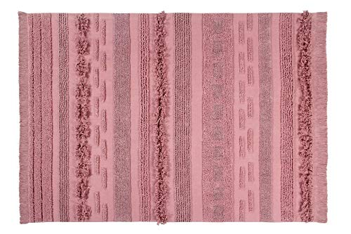 Lorena Canals Alfombra Lavable Air Canyon Rose Algodón Natural - Diferentes tonos de Rosa - 140x200...