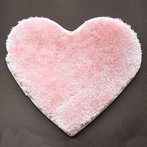 Zantec Alfombra en forma de corazón super suave