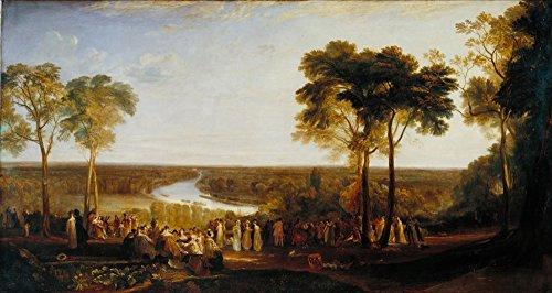 Das Museum Outlet-Richmond Hill, auf der Prinz Regent 's Geburtstag, gespannte Leinwand Galerie verpackt. 29,7x 41,9cm