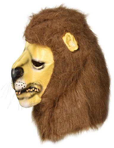 Sancto Löwe Karnevals-Maske braun-beige-schwarz Einheitsgröße