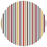 Supertogether 33 cm Vertical Stripes Repositionable Decorative Wall Sticker Dots, Pack of 4, White