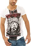 Trueprodigy Casual Hombre Marca Camiseta Estampado Ropa Retro Vintage Rock Vestir Moda Cuello...