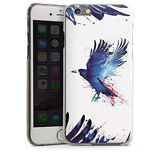 Apple iPhone 4 Housse Étui Silicone Coque Protection Oiseau Art Corbeau CasDur transparent