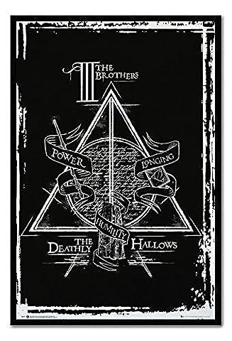 Harry Potter et les Reliques de la Mort Affiche encadrée Graphic Poster Tableau d'Affichage magnétique Noir–96,5x 66cm (environ 96,5x 66cm)