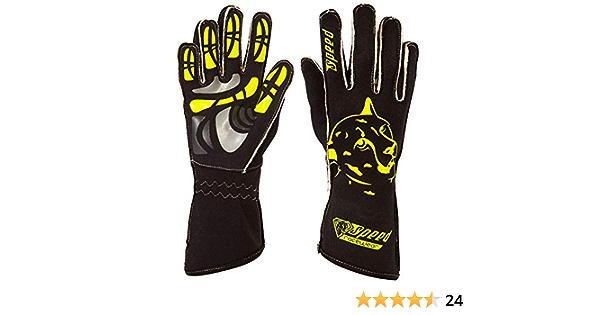 Speed Racewear Motorsport Handschuhe Karthandschuhe Melbourne Schwarz Neongelb Bekleidung