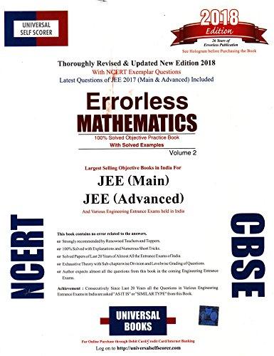 Universal Self Scorer Errorless Mathematics for JEE Main & Advanced (Set of 2 Volumes)