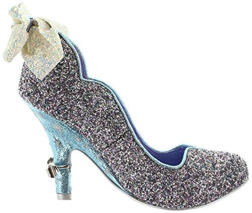 Irregular Choice Sparkling Slipper, Escarpins femme Grey-Silver